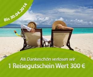 Reisegutschein von BestBetreut im Wert von 300 Euro